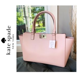NWT Kate Spade genuine leather tote pink